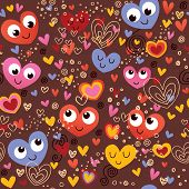 colorful hearts seamless pattern