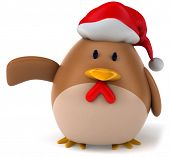 pic of santa-claus  - Santa chicken - JPG