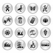 Tourism, Recreation & Vacation, Icons Set