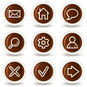 Basic web icons, chocolate buttons
