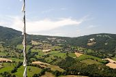 Montefeltro (marches, Italy), Landscape From Pennabilli (urbino) And Tibetan Flags