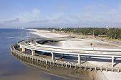 Interstate Highway Beach Walkway
