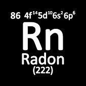 Periodic Table Element Radon Icon On White Background. Vector Illustration. poster