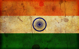 foto of ashok  - An old dirty and stained grunge style illustration of the flag of the Republic of India  - JPG