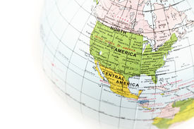 foto of united states map  - ball with map of USA  - JPG