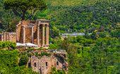 Rome Local Landmark Of Tivoli - Lazio Region Of Italy - Temple Of Vesta Circular Temple Roman Temple poster