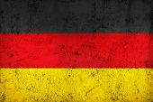 Grunge Dirty And Weathered German Flag
