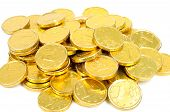 Golden Euro Coins