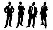 Silhouette Business Men