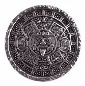 picture of phylacteries  - Medallion engraved with the Mayan calendar on a white background - JPG