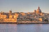 View of Valletta, Malta in early morning.