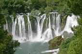 Beautiful Look At Kravice Waterfalls On Trebizat River, Bosnia