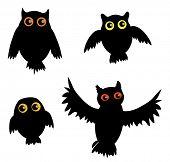 picture of siluet  - Cartoon Owl siluet  - JPG