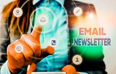 Conceptual Hand Writing Showing Email Newsletter. Business Photo Showcasing Email Sent Out To Inform poster