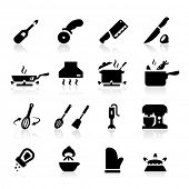 image of food processor  - Kitchen utensils icons - JPG