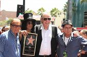 LOS ANGELES - JUL 10: Robert Evans,Slash, Jim Ladd,Charlie Sheen at a ceremony where Slash is honore