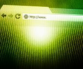 Browser Technology Concept Green Background
