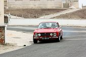 Foz Do Arelho, Portugal - May 13: Alberto Fonseca Drives A Alfa Romeo Gtv During Rally Sprint Foz Do
