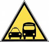 Постер, плакат: Знак автобусов и такси