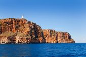 image of mola  - Formentera Faro de la Mola lighthouse view from sea - JPG