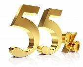 Fifty five percent 3D in gold