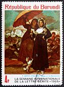 Postage stamp Burundi 1968 Women, Along the Manzanares by Goya