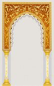 High detailed islamic art arch