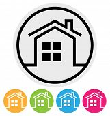 Round Home Icon