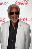 LAS VEGAS - APR 18:  Morgan Freeman in the CinemaCon Big Scrren Achievement Awards  press room at th