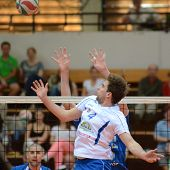 KAPOSVAR, HUNGARY - APRIL 15: Andras Toth (in white) in action at a Hungarian National Championship