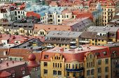 Colorful roofs of Gothenburg Sweden