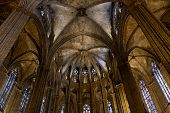 Inside the Cathedral of Santa Eulalia in Barcelona
