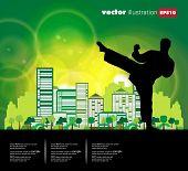 Karate. Ilustración de Vector