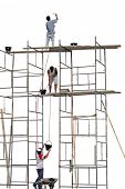 Photo of Workers on a scaffold