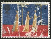 UK - CIRCA 1996: A stamp printed in UK shows image of The Magi, also referred to as the (Three) Wise