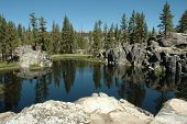 Alpine Lake In The Sierra Nevada's