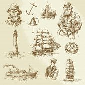 picture of brig  - nautical elements  - JPG