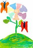 Children Drawing - Magic Flower