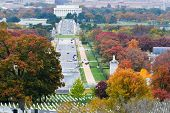 Washington DC city view in Autumn - United States