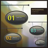 Abstract 3D Signboard Infographics