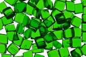 Green transparent polymer resin