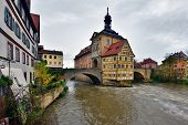 Famous Half-timbered House In Bamberg, Germany.