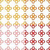 Clover leaf (good luck) knot seamless pattern