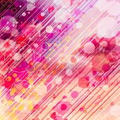 Abstract Graphic Background With Circles