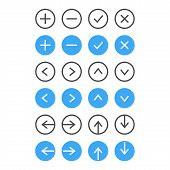 Thin Icon Set. Navigation And List Management. Vector