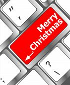 Merry Christmas Message, Keyboard Enter Key Button