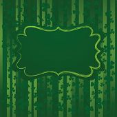 St Patrick's day background with floral ornament in green colors