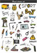 Doodle set - boy toys