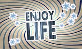 Vintage Wooden Enjoy Life Label
