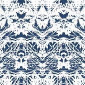 Vintage vector damask pattern with abstract shapes